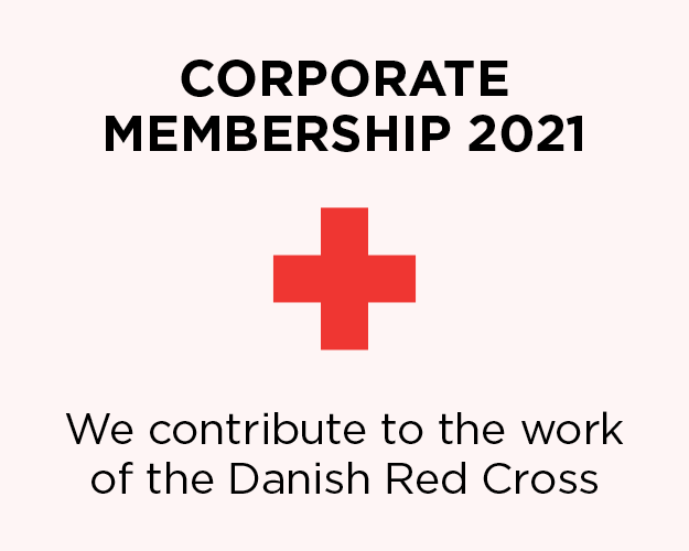 We contribute to the work of the Danish Red Cross