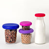 Food Huggers, Silicone Jar Lids, Jar Covers, Easy Open Jar Lids, Easy Open, Food Huggers, Fresh