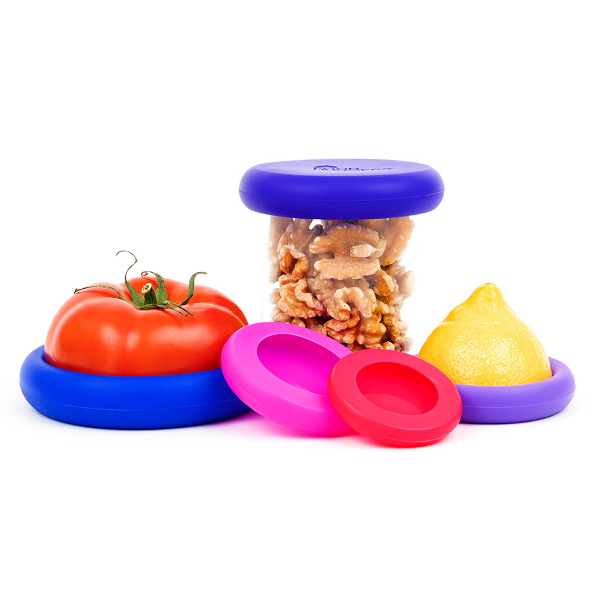 Set of 5 Food Huggers - Bright Berry