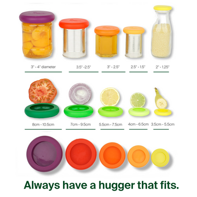 Set of 5 Food Huggers - Fresh Greens-Silicone Food Saver-Food Huggers