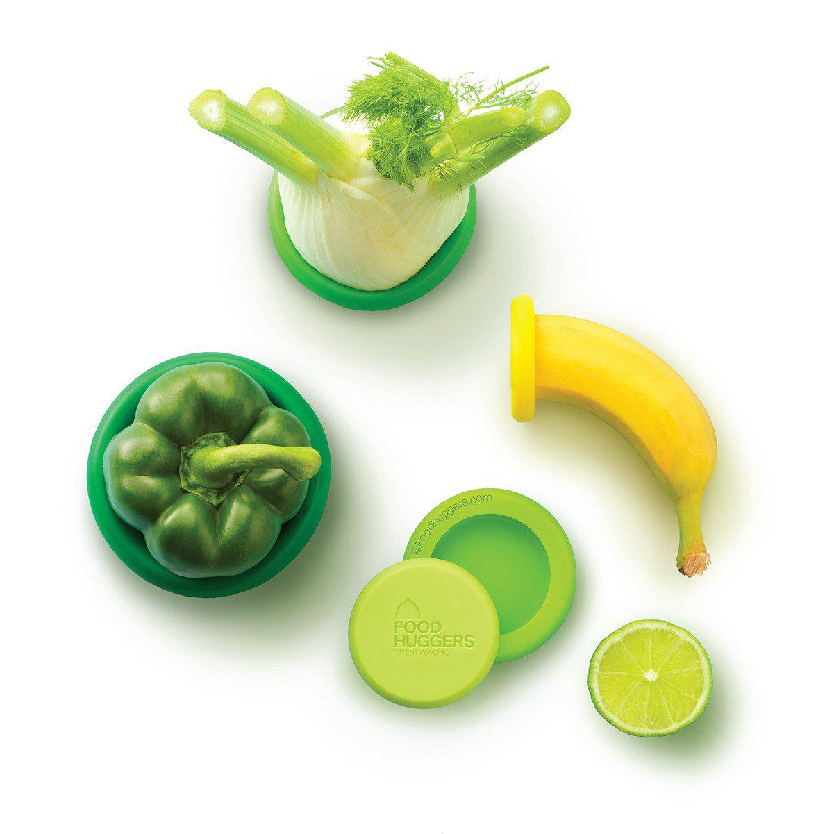 Set of 5 Food Huggers - Fresh Greens