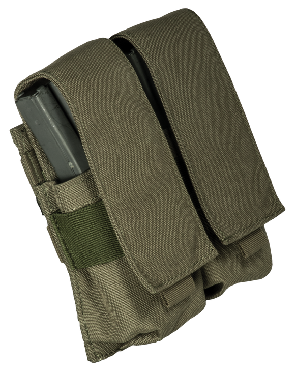 Base M16 covered double mag pouch