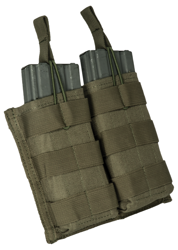 Base M16 open top bungee double mag