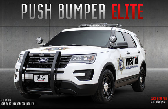 Westin Push Bumper for 2020+ Ford Explorer Police Interceptor