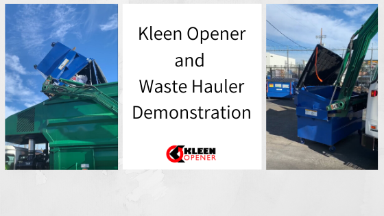 How Kleen Opener Works When Dumpsters are Emptied