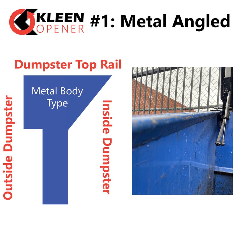 Graphic and picture example of Kleen Opener Mount Type #1 Metal Angled