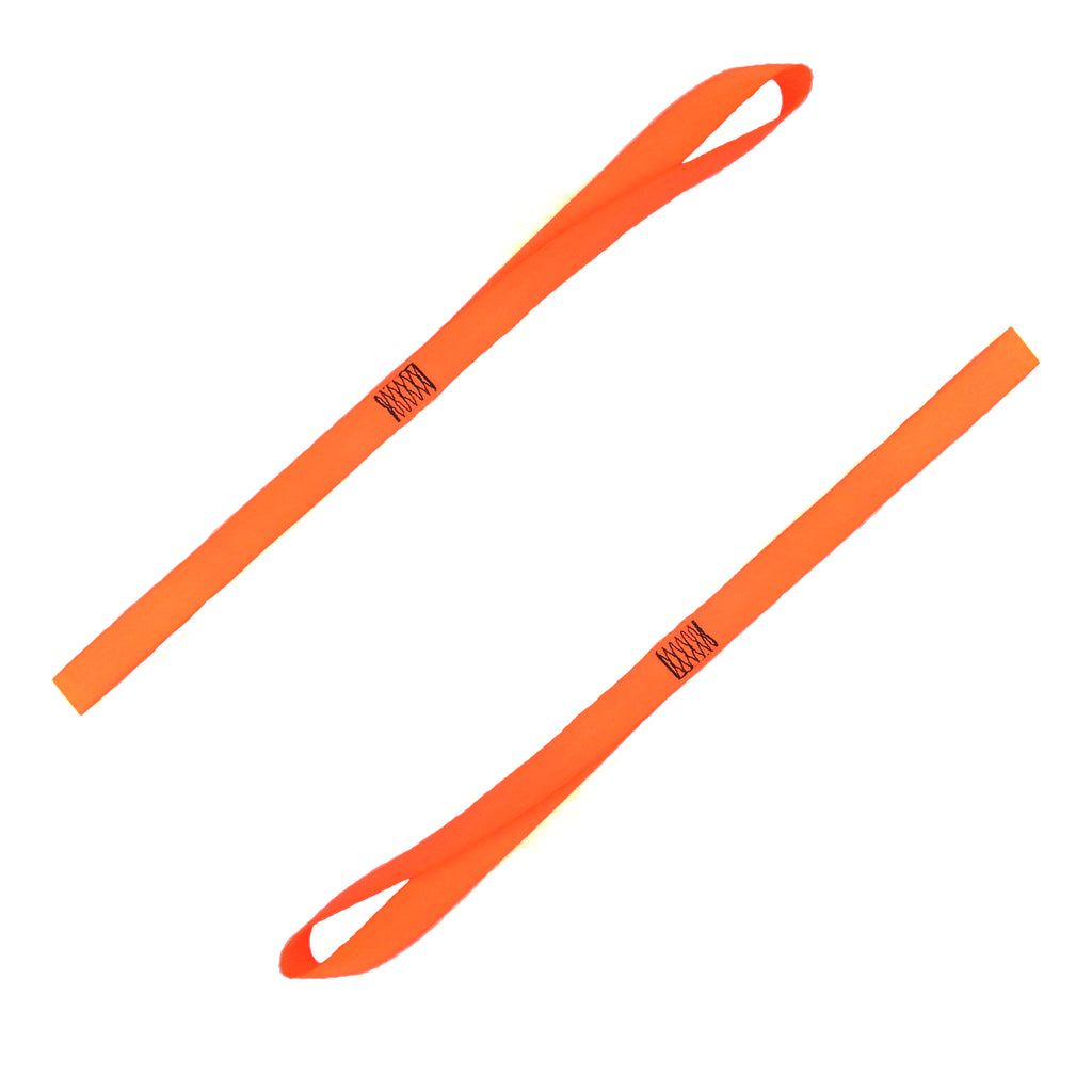 Two Kleen Opener orange fabric pull down straps