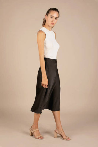 ALL:ROW Risa Silk Midi Skirt
