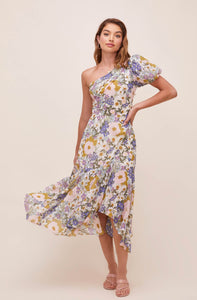 ASTR THE LABEL Santorini One Shoulder Midi Dress