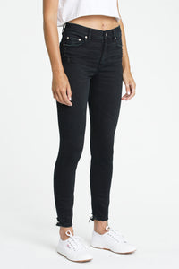 "DAZE DENIM ""Call You Back"" Ankle High Rise Skinny Jeans - Tinted Windows"