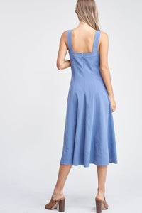 EN SAISON Constrast Stitch Midi Dress