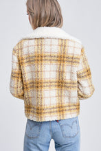 Load image into Gallery viewer, EN SAISON Plaid Shearling Jacket