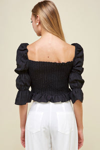EPISODE Victoria Puff Sleeve Smocked Top