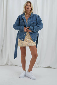 ET CLET Harley Belted Denim Jacket