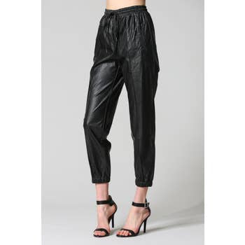 FATE Vegan Leather Utility Jogger Pants