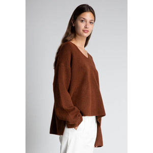 GRADE & GATHER Boxy Split Hem Sweater