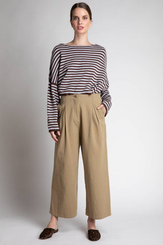 GRADE & GATHER Pleated Front Twill Pants