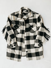 Load image into Gallery viewer, RDStyle_plaid_fringe_shirt_check