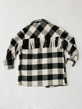 Load image into Gallery viewer, RDStyle_plaid_fringe_shirt_buffalo_check