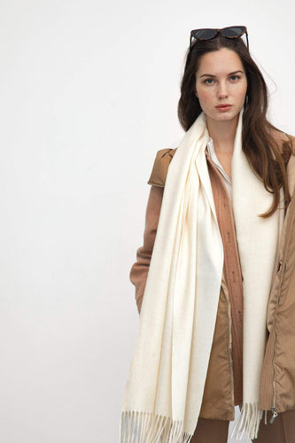 J.ING Ivory Long Oversized Scarf