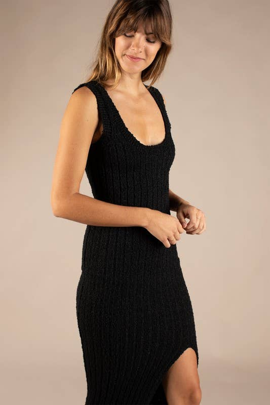 ALL:ROW Viola Rib-Knit Dress