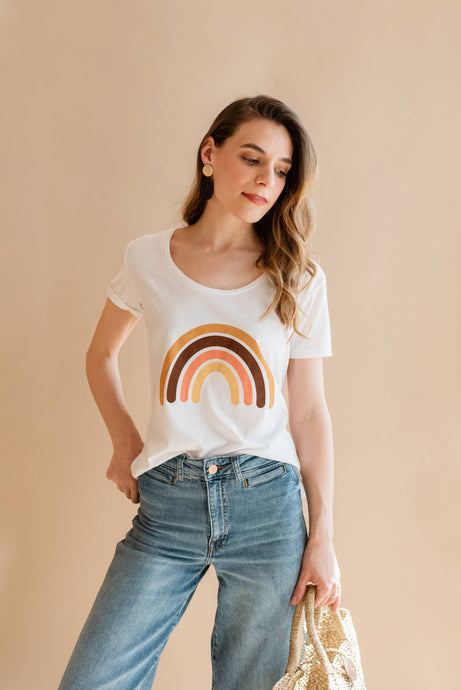 POLISHED PRINTS Rainbow Scoop Tee