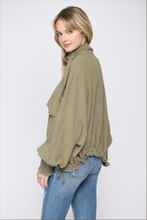 Load image into Gallery viewer, FATE Oversized Raw Trim Army Jacket
