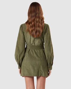 CHARLIE HOLIDAY Rogue Corduroy Dress