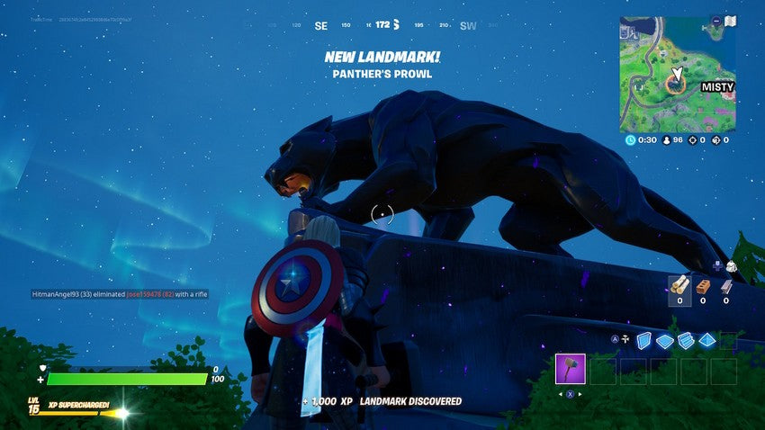 fortnite black panther statue
