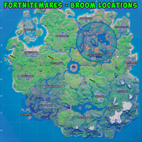 Fortnitemares location Witch's Broom