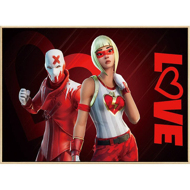 "Fortnite Poster ""LOVE"" Ex and Crusher"