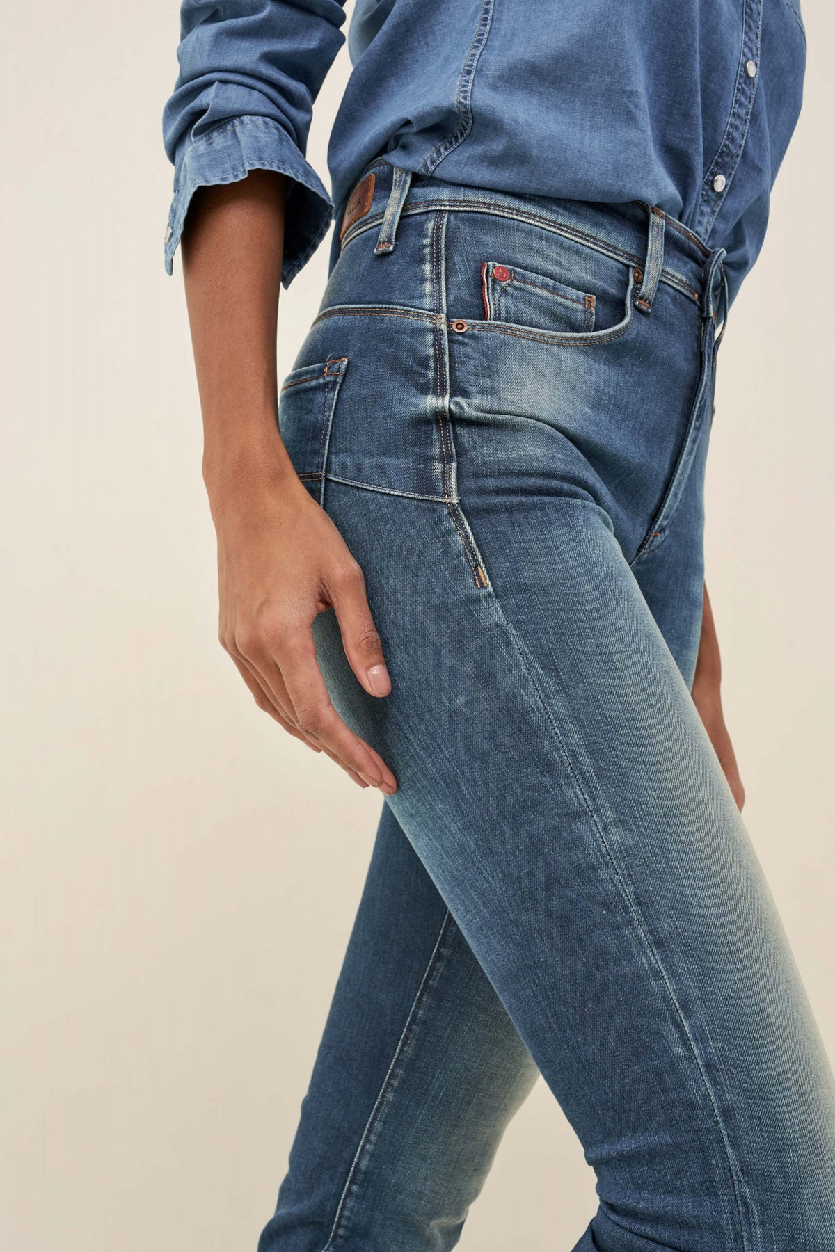 Push In Secret Glamour Slim Jeans in Premium Wash (123230)