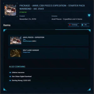 PACKAGE - ANVIL C8X PISCES EXPEDITION - STARTER PACK | GANJALEZZ JPEGs STORE | Space Foundry Marketplace