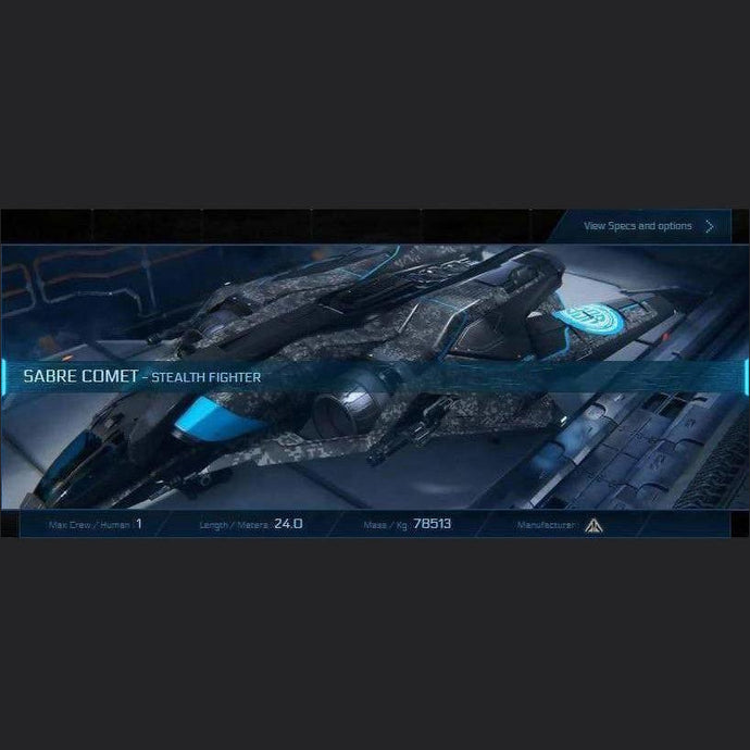 SABRE COMET - LTI - CCUed | Standalone CCU'd Ship | JPEGS STORE | Space Foundry Marketplace.