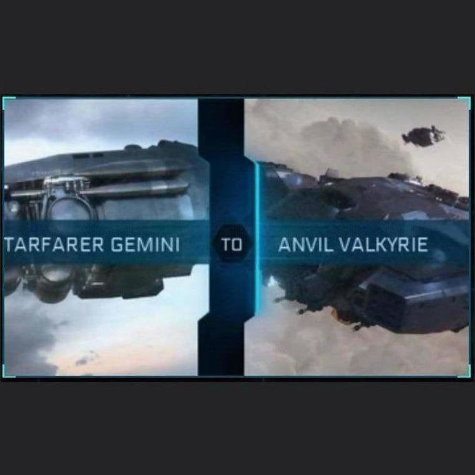 Starfarer Gemini to Valkyrie | Upgrade | Might | Space Foundry Marketplace.