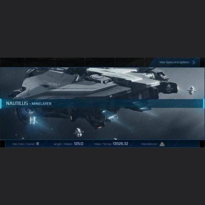 NAUTILUS - LTI - CCUed | Standalone CCU'd Ship | JPEGS STORE | Space Foundry Marketplace.