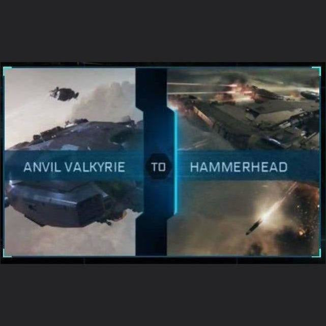 Valkyrie to Hammerhead | Upgrade | Might | Space Foundry Marketplace.