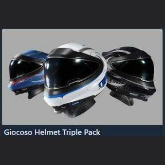 Giocoso Helmet Triple Pack | Add-On | Games Kingdom | Space Foundry Marketplace.