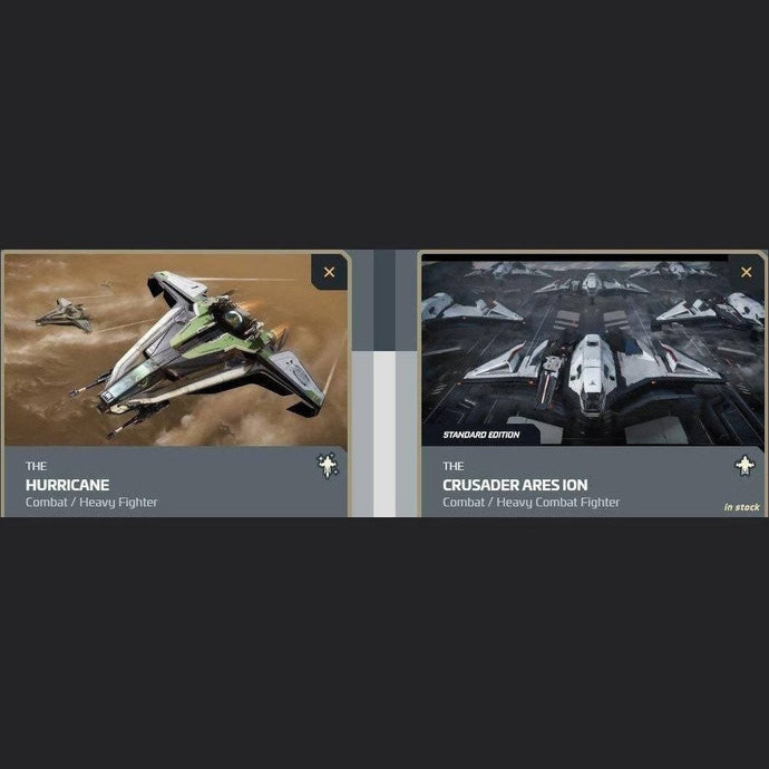 UPGRADE - HURRICANE TO CRUSADER ARES ION | Upgrade | JPEGS STORE | Space Foundry Marketplace.