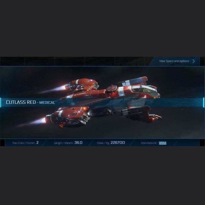 CUTLASS RED - SUBSCRIBERS - (12m) | Standalone Original Concept Ship | JPEGS STORE | Space Foundry Marketplace.