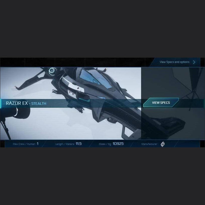 RAZOR EX - LTI - CCUed | Standalone CCU'd Ship | JPEGS STORE | Space Foundry Marketplace.