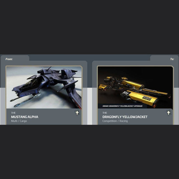 Mustang Alpha to Dragonfly Yellowjacket | Upgrade | Might | Space Foundry Marketplace.