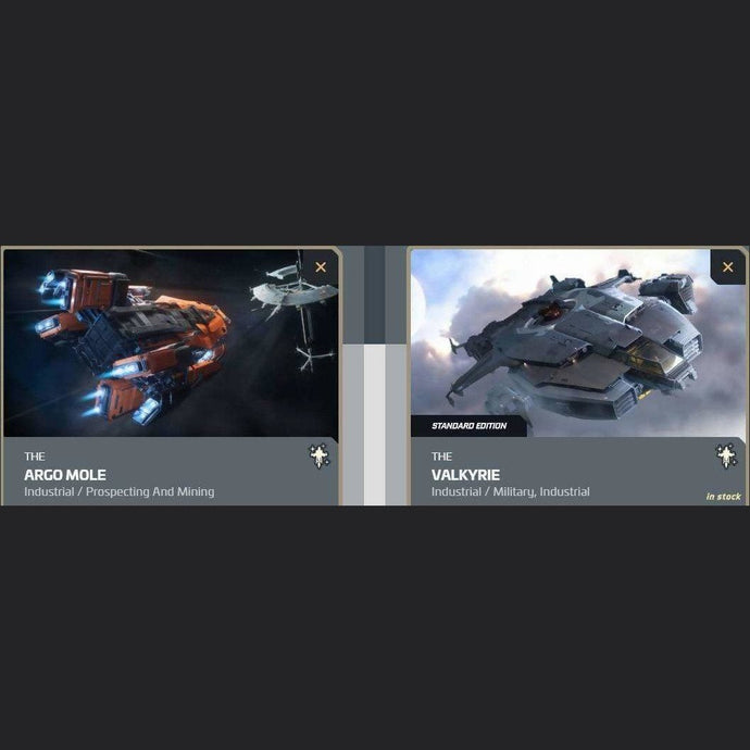 UPGRADE - ARGO MOLE TO VALKYRIE | Upgrade | JPEGS STORE | Space Foundry Marketplace.