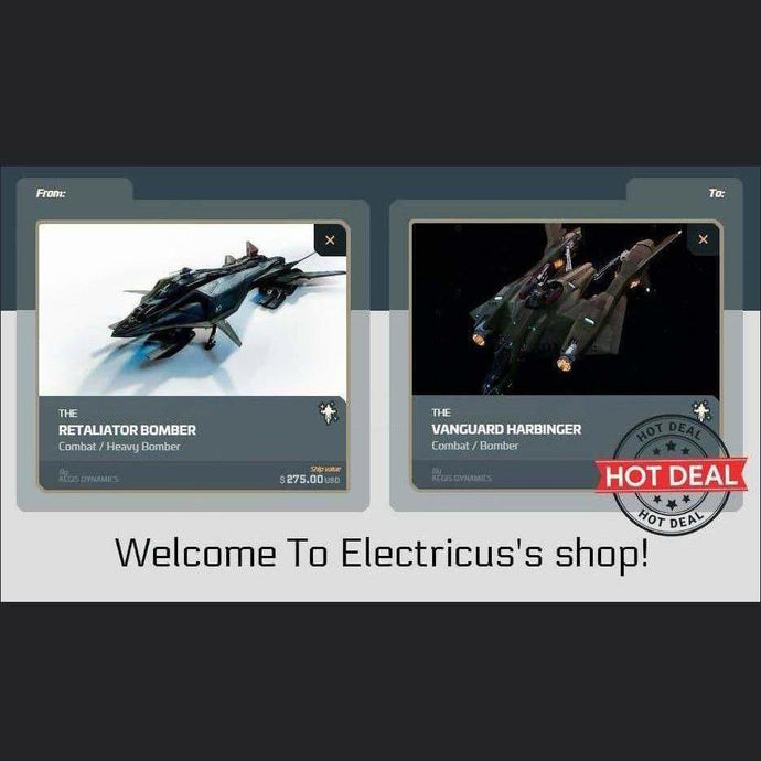 Retaliator Heavy Bomber to Vanguard Harbinger | Upgrade | Official Store by Electricus | Space Foundry Marketplace.