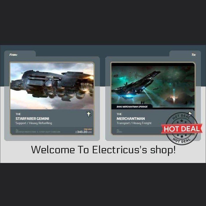 Starfarer Gemini to Merchantman Upgrade | Upgrade | Official Store by Electricus | Space Foundry Marketplace.