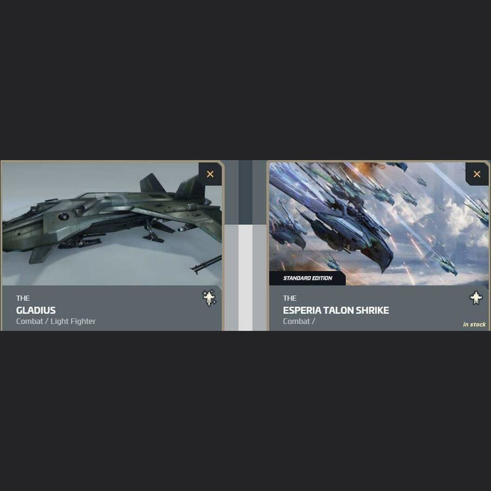 UPGRADE - GLADIUS TO ESPERIA TALON SHRIKE | Upgrade | JPEGS STORE | Space Foundry Marketplace.