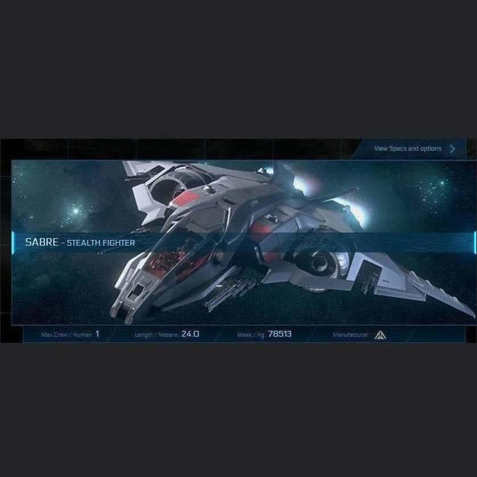 SABRE - LTI - CCUed | Standalone CCU'd Ship | JPEGS STORE | Space Foundry Marketplace.