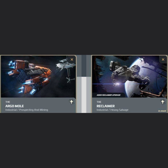 UPGRADE - ARGO MOLE TO RECLAIMER | Upgrade | JPEGS STORE | Space Foundry Marketplace.