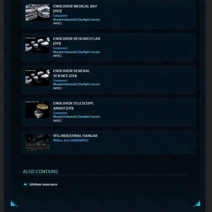 MISC Endeavor Master Set LTI - IAE 2950 | Standalone Original Concept Ship | Star Citizen Ships | Space Foundry Marketplace.
