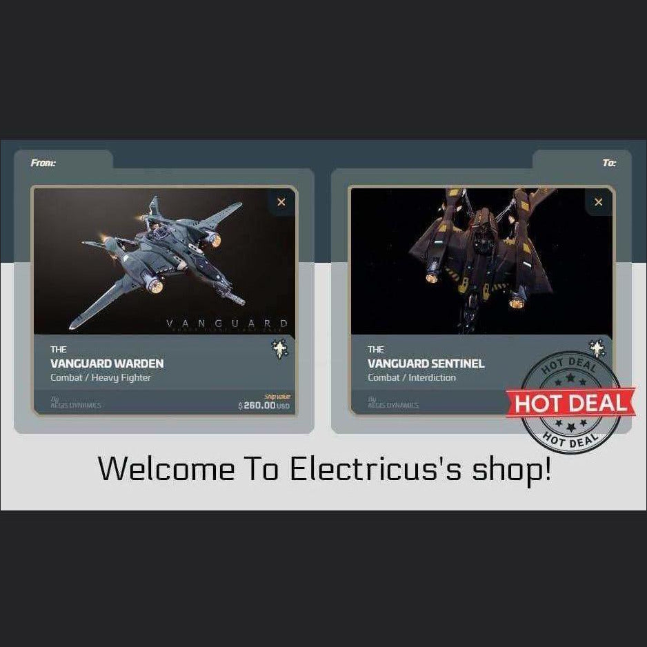 Vanguard Warden to Vanguard Sentinel Upgrade CCU | Upgrade | Official Store by Electricus | Space Foundry Marketplace.